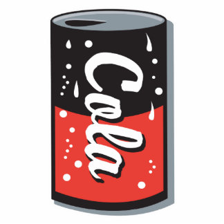 retro cola can design photo cutouts