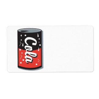 retro cola can design shipping label