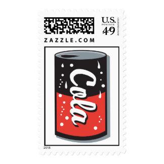 retro cola can design stamp