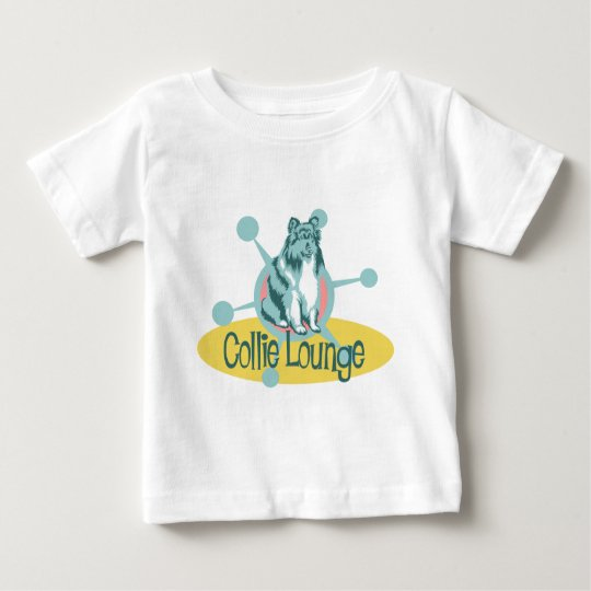 Retro Collie Lounge Baby T-Shirt
