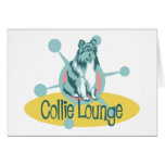 Retro Collie Lounge Greeting Cards