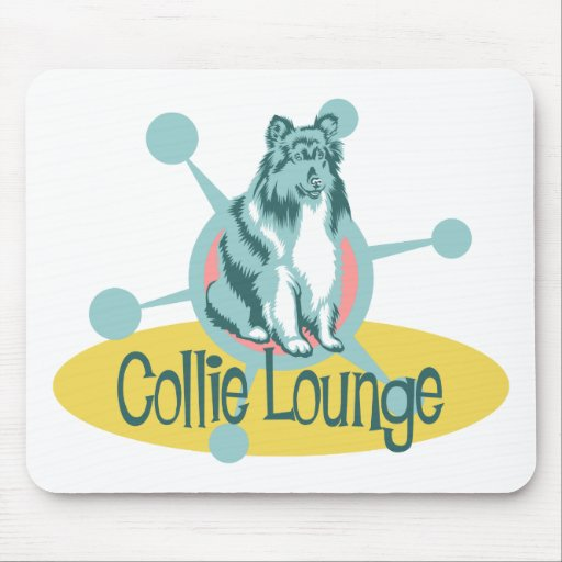 Retro Collie Lounge Mouse Pads