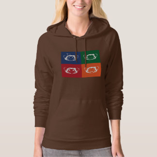 Retro Color Abstract Monkey Face Blocks Hoodie