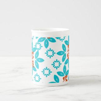 Retro Color Leaf Pattern Tea Cup