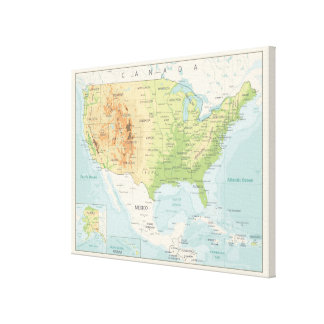 Retro Color Map of the World Canvas Print