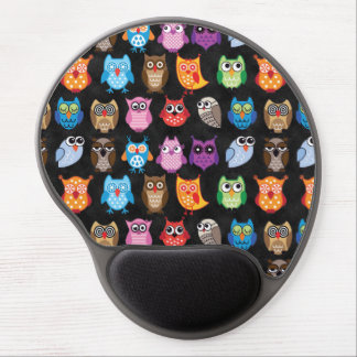Retro Color Owl Pattern Gel Mouse Pad