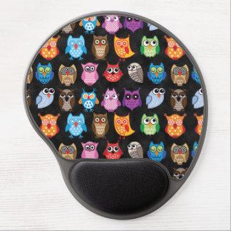 Retro Color Owl Pattern Gel Mouse Pad