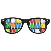 Retro Color Puzzle Sunglasses