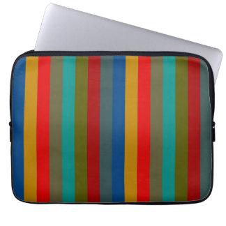Retro Color Stripe Pattern 11 Computer Sleeve