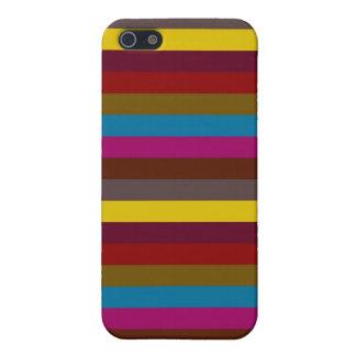 Retro Color Stripe Pattern 11 iPhone SE/5/5s Cover
