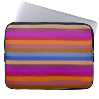 Retro Color Stripe Pattern 2 Computer Sleeve