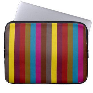 Retro Color Stripe Pattern 2 Laptop Sleeve