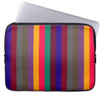 Retro Color Stripe Pattern 5 Laptop Sleeve