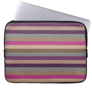Retro Color Stripe Pattern Computer Sleeve