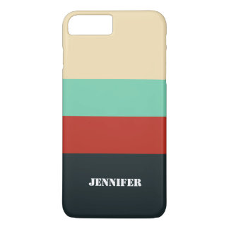 Retro Color Stripes iPhone 7 Case, Barely There iPhone 8 Plus/7 Plus Case