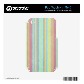 Retro Color Stripes iPod Touch 4G Decals