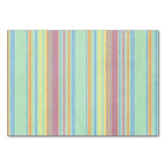 Retro Color Stripes Table Card