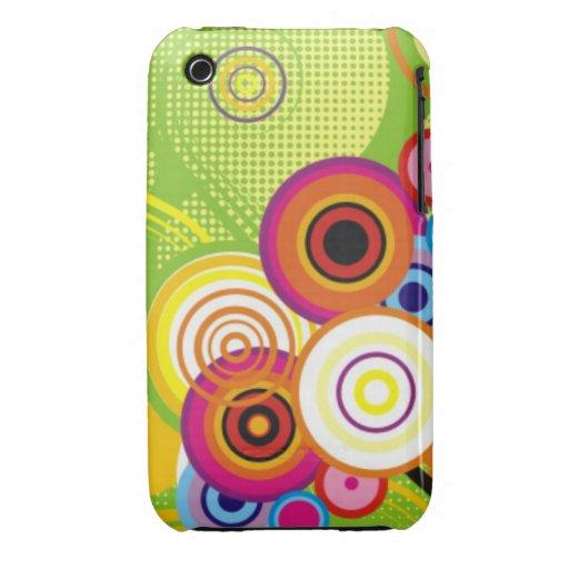 Retro Color Swirl iPhone Case
