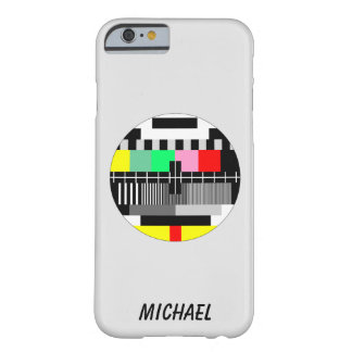 Retro color tv test screen barely there iPhone 6 case