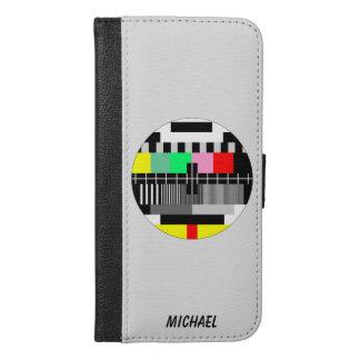 Retro color tv test screen iPhone 6/6s plus wallet case