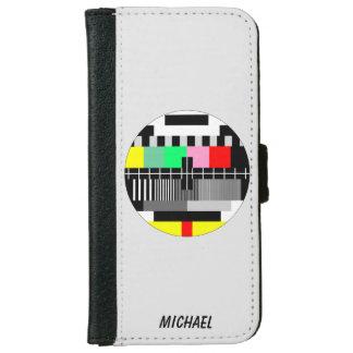 Retro color tv test screen iPhone 6/6s wallet case