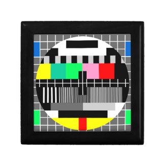 Retro color tv test screen jewelry box