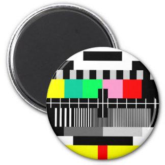 Retro color tv test screen magnet