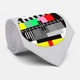 Retro color tv test screen tie