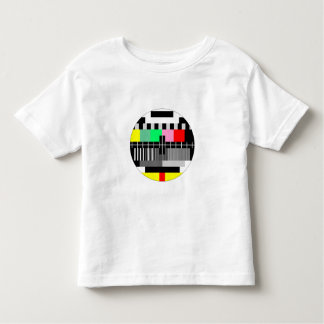 Retro color tv test screen toddler shirt