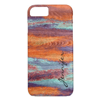 Retro Color Wood Grain Texture #3 iPhone 7 Case
