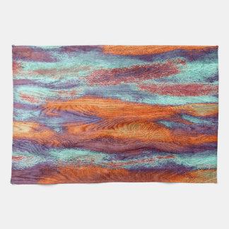 Retro Color Wood Grain Texture Hand Towel