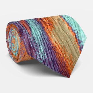 Retro Color Wood Grain Tie