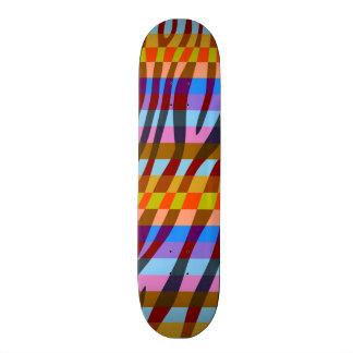 Retro Color Zebra Stripe Pattern 3 Skateboard Deck