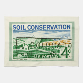 Retro Colorado Soil Conservation Kitchen Towel