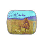 Retro colored horse candy tins
