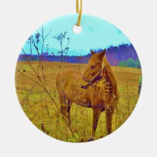 Retro Colored Horse Ceramic Ornament