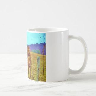 Retro Colored Horse Coffee Mug