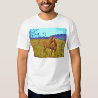 Retro Colored Horse Tee Shirt