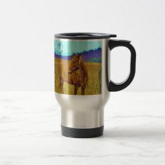 Retro Colored Horse Travel Mug