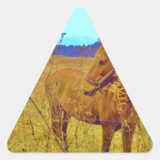 Retro Colored Horse Triangle Sticker