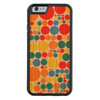 Retro Colored Polka Dot Pattern #11 Carved Cherry iPhone 6 Bumper Case