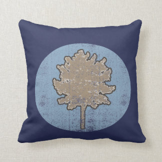 Retro Colored Tree Symbol Pillow