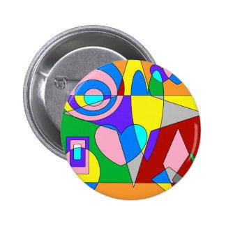 Retro Colorful Abstract Button