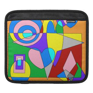 Retro Colorful Abstract iPad Sleeve