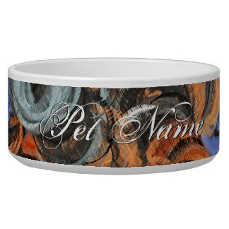 Retro Colorful Abstract Painting 8 Bowl