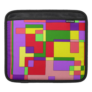 Retro Colorful Abstract Sleeve For iPads