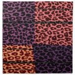 Retro colorful animal skin texture of leopard printed napkin