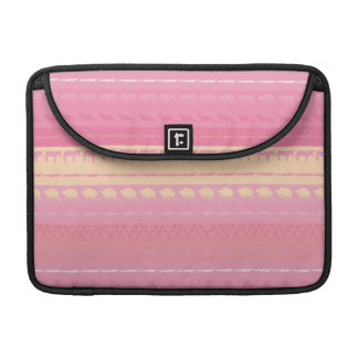 Retro Colorful Animals Modern Stripes Pattern #14 MacBook Pro Sleeve