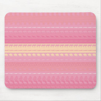 Retro Colorful Animals Modern Stripes Pattern #14 Mouse Pad