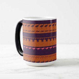 Retro Colorful Animals Modern Stripes Pattern #16 Magic Mug